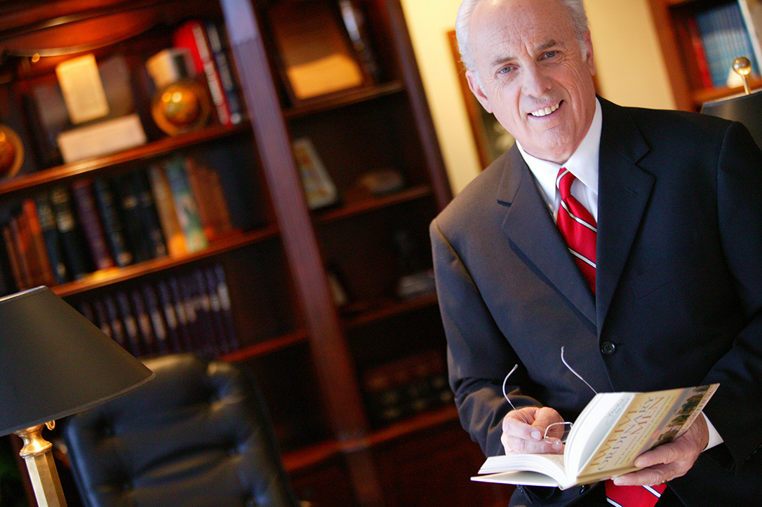 John MacArthur In His Office