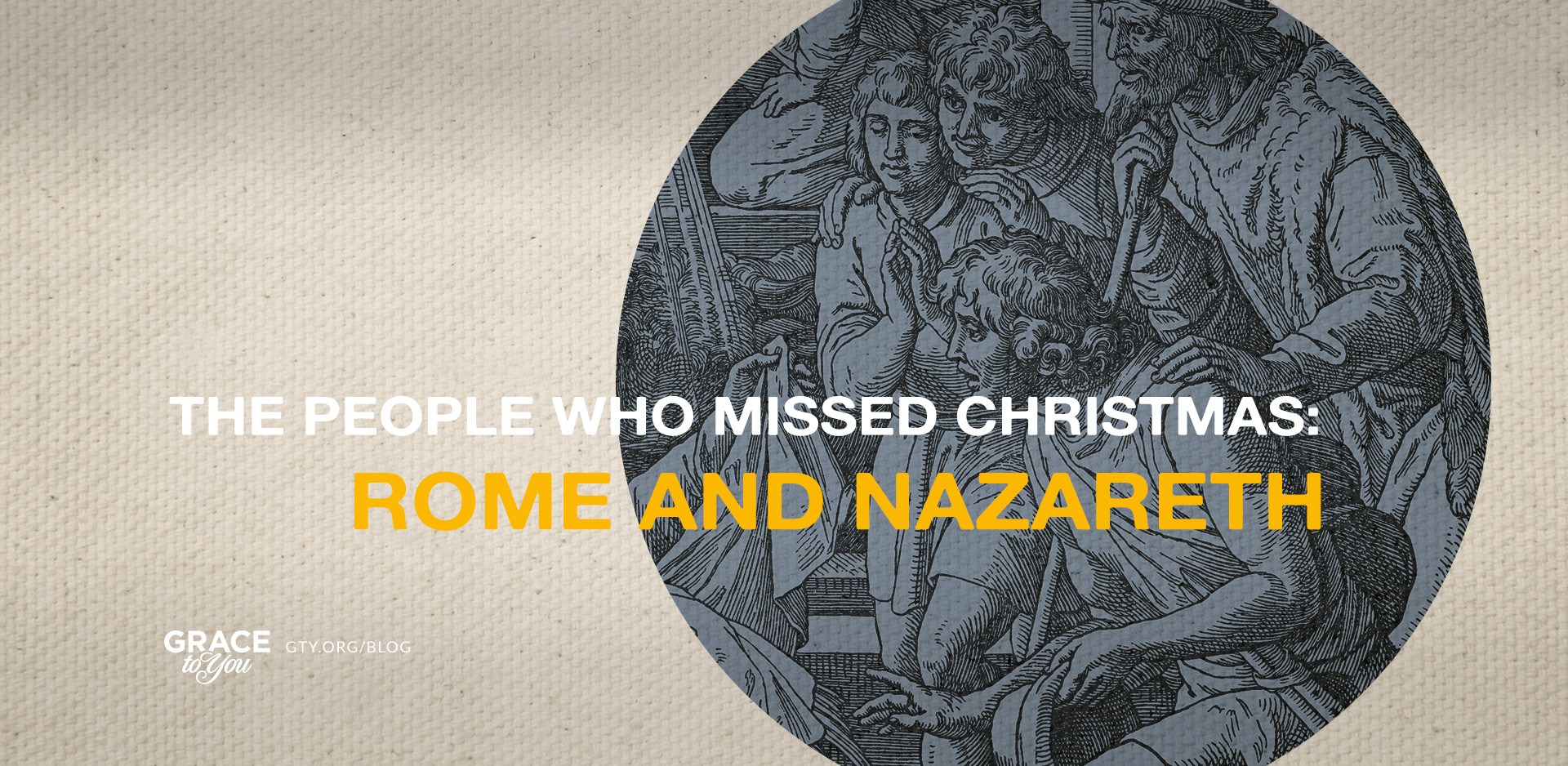 The People Who Missed Christmas: Rome and Nazareth