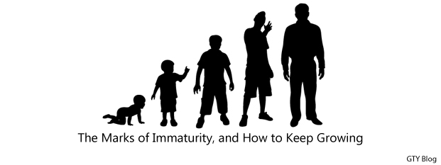 Previous post: The Marks of Immaturity, and How to Keep Growing