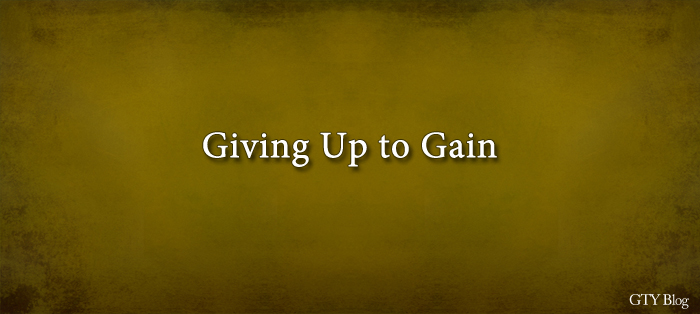 Next post: Giving Up to Gain