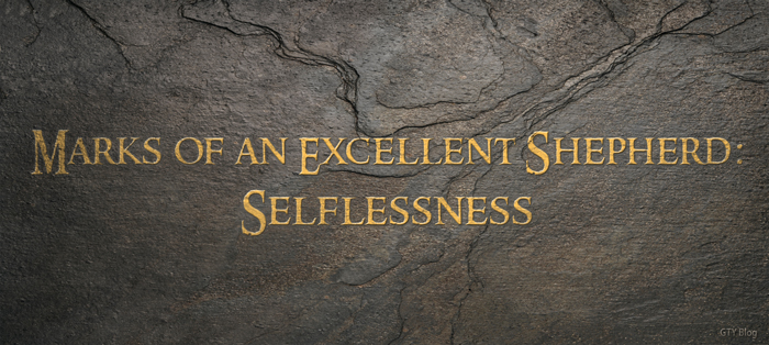 Marks of an Excellent Shepherd: Selflessness