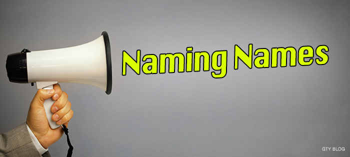 Previous post: Naming Names
