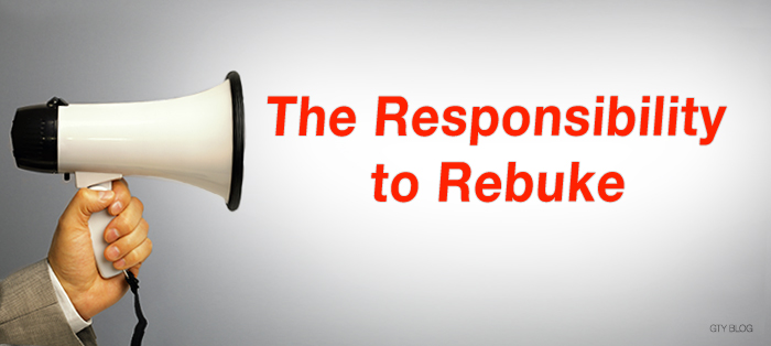 Previous post: The Responsibility to Rebuke