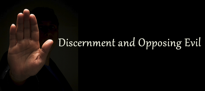 Next post: Discernment and Opposing Evil