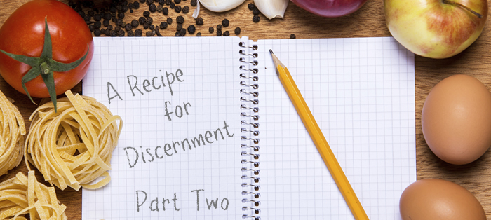 Previous post: A Recipe for Discernment, Part 2