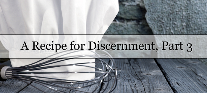A Recipe for Discernment, Part 3