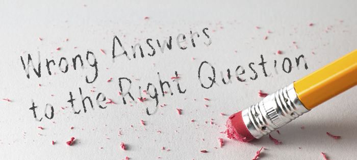 Next post: Wrong Answers to the Right Question