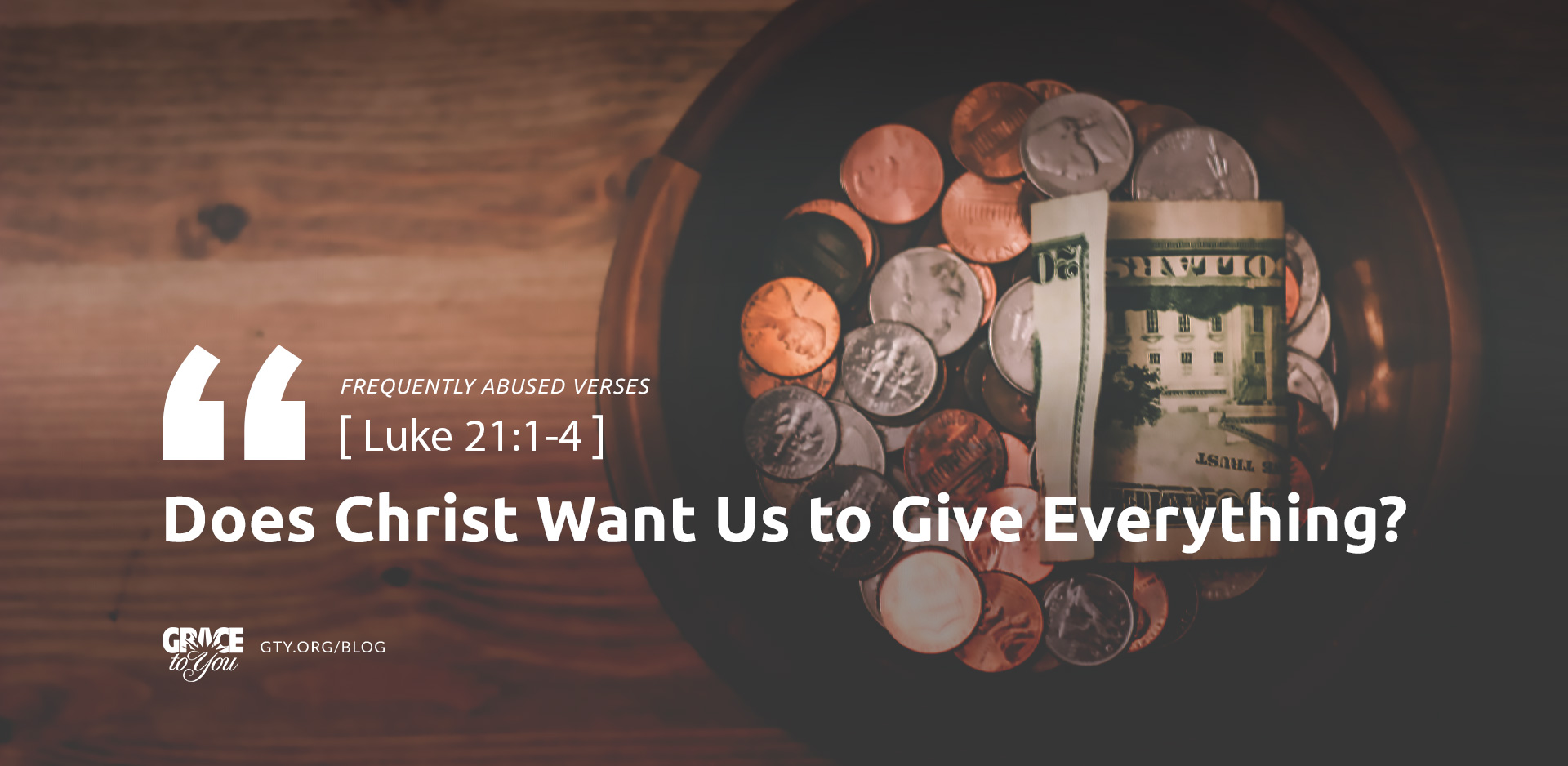 Does Christ Want Us to Give Everything?
