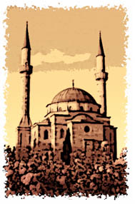 artistic depiction of a mosque